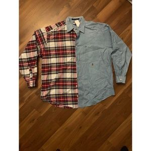 Tommy Hilfiger patchwork button down
